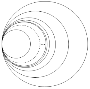 the lpc-coreflection of a generalized wedge of circles